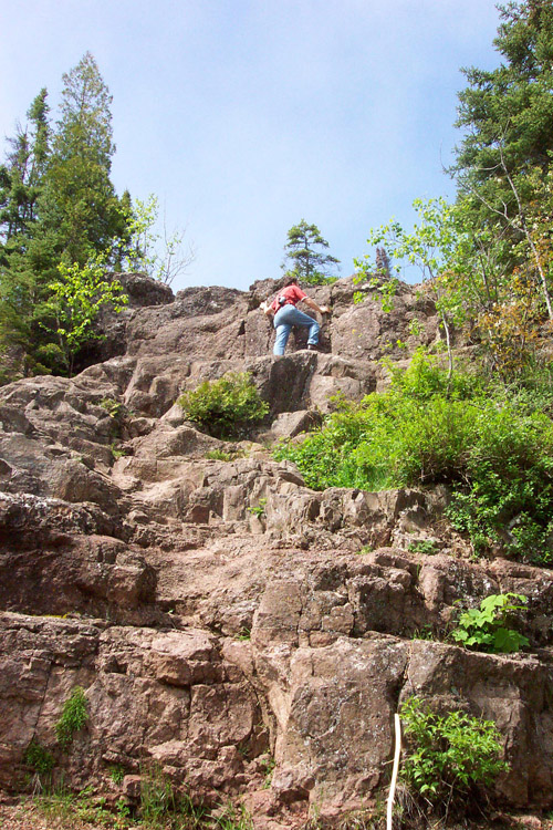 In the area of Duluth: climbing is fun ...