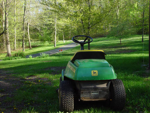 The lawnmower from hell - it only takes a few hours to mow the lawn ;-)