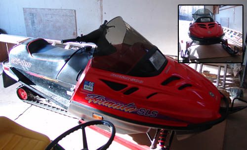 But it's also the weather for doing some snowmobiling - so I bought this one!