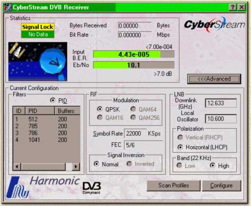 Details of the Harmonic Cyberstream DVB card