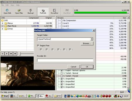 trial version of Nero , can be downloaded for free. DVDShrink can be ...